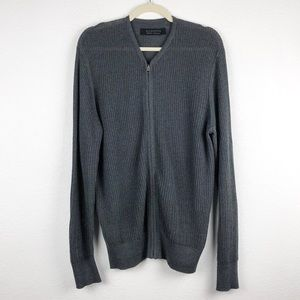 All Saint Knit Zip Up Cardigan Size Medium